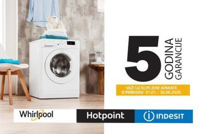 5 GODINA GARANCIJE Whirlpool, Indesit, Hotpoint