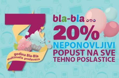 Bla-Bla multimedia prodavnice proslavljaju 7.rođendan