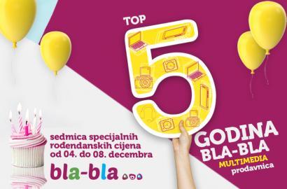 Bla-Bla multimedia prodavnice proslavljaju 5.rođendan