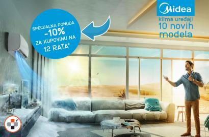 Midea klima uređaji -10% za 12 rata