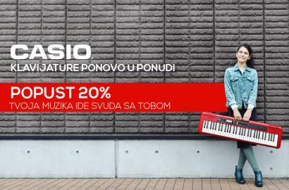 NOVO: Casio klavijature popust 20%
