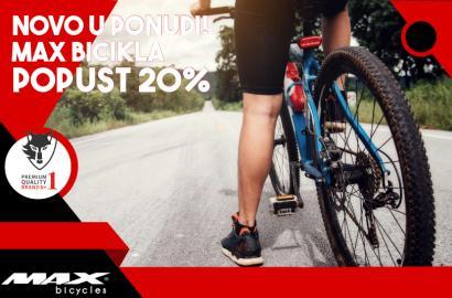 NOVO u ponudi: MAX bicikla Promo popust 20%