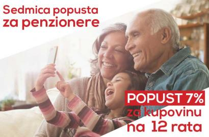 Sedmica POPUSTA za penzionere